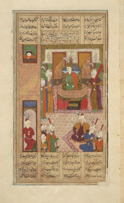 Zahhak enthroned