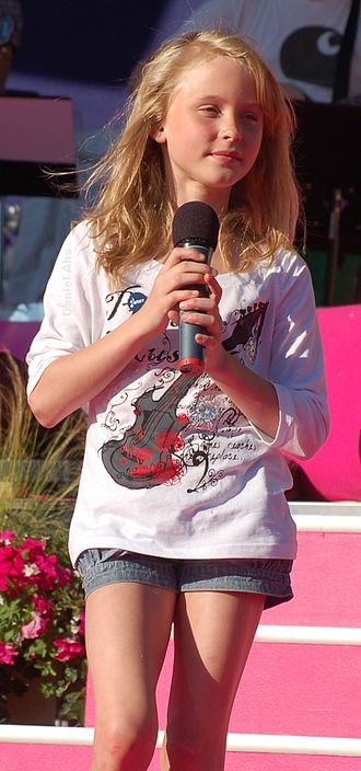 Talang 2008 - Zara Larsson, the winner of Talang 2008.