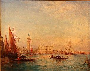 Venise, grand canal vue de Saint Georges