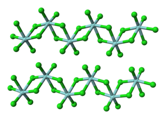 Technetium - TcCl4 forms chain-like structures, similar to the behavior of several other metal tetrachlorides.