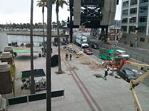 San Andreas (film) - Filming outside AT&T Park