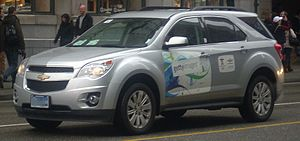 General Motors Canada - A Vancouver 2010 Winter Olympics vehicle in Vancouver.  GM Canada was a sponsor of the Vancouver 2010 Olympics.