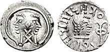 Himjarische Münze des ʿAmdan Bayyin aus Raidan (Typ 9)