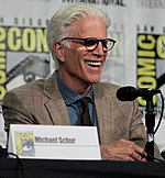 Ted Danson 'The Good Place' cast and crew visit San Diego Comic Con for a panel (43100198314) (cropped).jpg