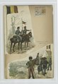 (1. Hussar and lancer Guide); (2) Artillerist, Treinsoldaat (NYPL b14896507-88488).tiff