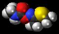 (E)-Methomyl molecule spacefill.png