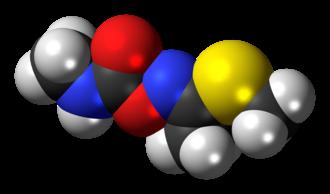 Methomyl - Image: (E) Methomyl molecule spacefill