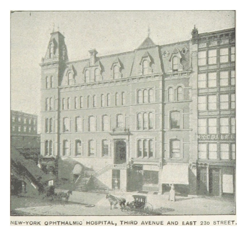 (King1893NYC) pg479 NEW-YORK OPHTHALNIC HOSPITAL, THIRD AVENUE AND EAST 23D STREET