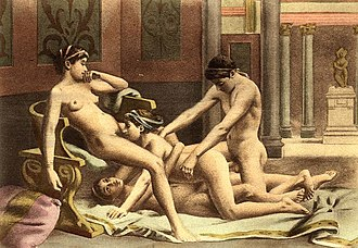 Illustration of a foursome by Edouard-Henri Avril Edouard-Henri Avril (30).jpg