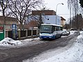 Řevnice, 28. října, autobusová zastávka u nádraží.jpg