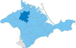 Pervomaiske Raion - Image: Карта схема Крыма Первомайский район