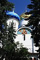 Сергиев Посад (Россия) Фрески на стене храма - panoramio.jpg