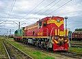 ТЭМ18-013, Украина, Днепропетровская область, станция Нижнеднепровск-Узел (Trainpix 146844).jpg