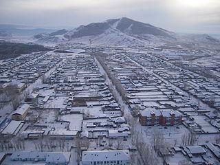 Town in Tuva, Russia
