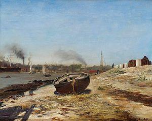 Франц Рубо - Лодка на берегу.jpg