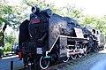 静態保存のD51形402号機 A steam locomotive put into static preservation 2014.9.09 - panoramio.jpg