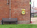 -2020-12-02 Wall mounted defibrillator on the side wall-of the National Coastwatch lookout, Mundesley.JPG