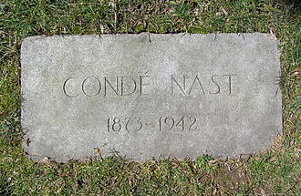 Condé Montrose Nast - The footstone of Condé Nast in Gate of Heaven Cemetery
