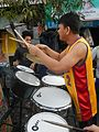 0932jfPedestrian footbridge C-37 Capulong Marcos Road Musicians Tondo Manilafvf.jpg