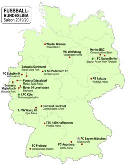 1. Fussball-Bundesliga Deutschland 2019-2020