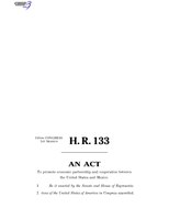 116th United States Congress H. R. 0000133 (1st session) - United States-Mexico Economic Partnership Act B - Engrossed in House.pdf