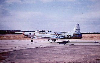 136th Airlift Squadron - 136th Fighter-Interceptor Squadron - Lockheed F-94B 50-0856, 1955