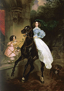 Daughters of Pacini, Giovannina and Amazilia, 1832, by Karl Bryullov. 1832. BRULLOV VSADNICA1.jpg