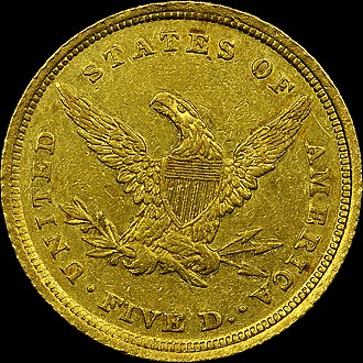 Charlotte Mint - 1839-C $5 Gold Coin, Reverse