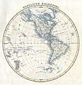 1844 Flemming Map of the Western Hemisphere or South and North America - Geographicus - WesternHemi-felmming-1844.jpg