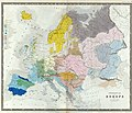 1846 Ethnographic Map of Europe by Ethnographic by Gustaf Kombst.jpg
