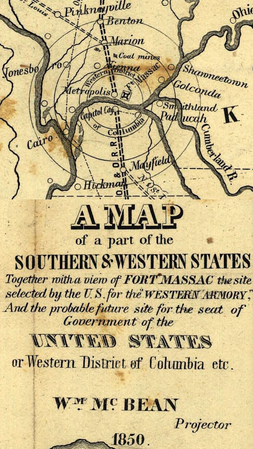 1850 Western District of Columbia