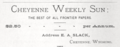 1877 Cheyenne Weekly Sun ad Wyoming.png