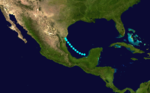 1892 Atlantic tropical storm 6 track.png