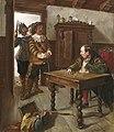 1895 Carl Plinke Ölgemälde Die Konfiszierung des Pfeffersacks.jpg