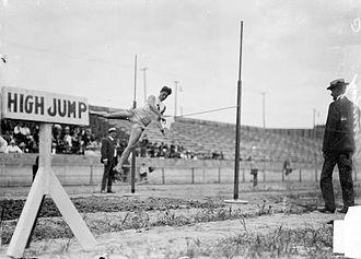 High jump at the Olympics - Image: 1904 Samuel Jones