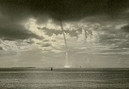 Waterspout near Key West ahead of the storm's arrival in Florida