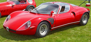 Butterfly doors - The Alfa Romeo 33 Stradale was the first car to use butterfly doors