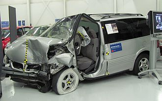 Insurance Institute for Highway Safety - The 1997 Pontiac Trans Sport failed this test with one of the worst performances in the Institute's history; then-institute head Brian O'Neill noted that this crash could have proven fatal for a human occupant. One of the tested Trans Sports is displayed at the Institute's headquarters as an example of a poor performer in a frontal offset crash. It was significantly worse than other contemporary vehicles; the 1996 Ford Windstar passed with the Institute's highest rating.