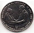 1 песо. Куба. 1997. Визит Фиделя Кастро в Ватикан.jpg