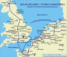 1 Dywizja Pancerna route.png