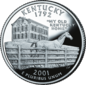 Kentucky quarter dollar coin