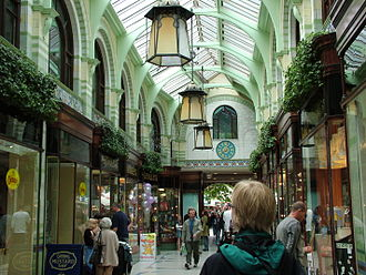 The Royal Arcade, designed by George Skipper, opened in 1899. 2004 norwich 06.JPG
