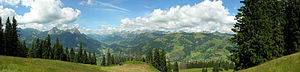 Saanen - Hornberg and countryside near Saanen