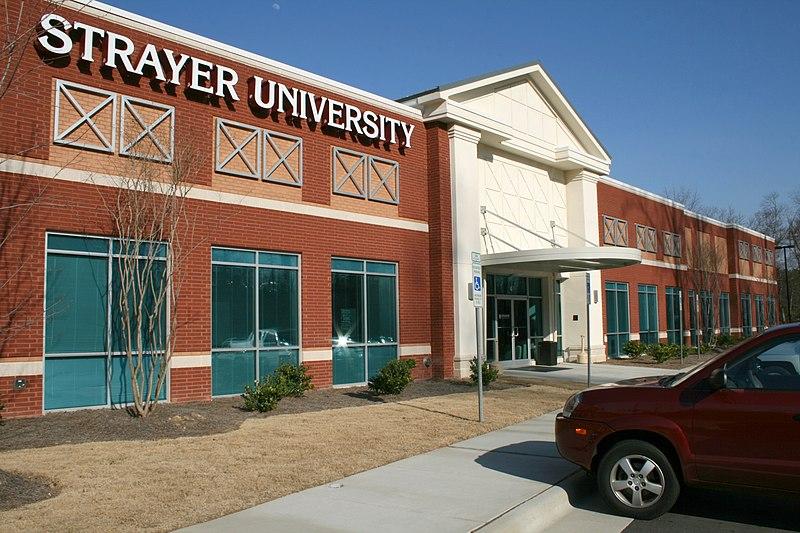 [Image: 800px-2009-03-06_Strayer_University_in_Morrisville.jpg]