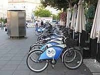 2011-08-18 Frankfurt am Main Fahrradverleih Nextbike Hbf.JPG