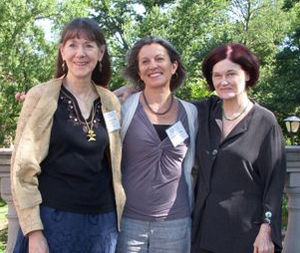 Claudia Emerson - Virginia Poets Laureate at University of Mary Washington Reunion Day, June 3, 2011. Carolyn Kreiter-Foronda (2006-2008), Claudia Emerson (2008-2010), and Kelly Cherry (2010-2012)