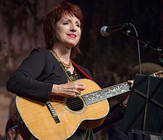 Ann Savoy performing at the Liberty Theater, Eunice, Louisiana, Nov. 17, 2012.