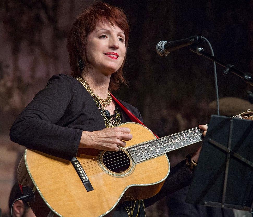 Ann Savoy performing at the Liberty Theater, Eunice, Louisiana, Nov. 17, 2012.