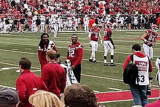 Jonathan Williams (running back, born 1994) - Williams (32) looks towards family in the stands