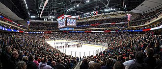 High school boys ice hockey in Minnesota - 2015 Boys AA Championship game between Lakeville North and Duluth East at the Xcel Energy Center